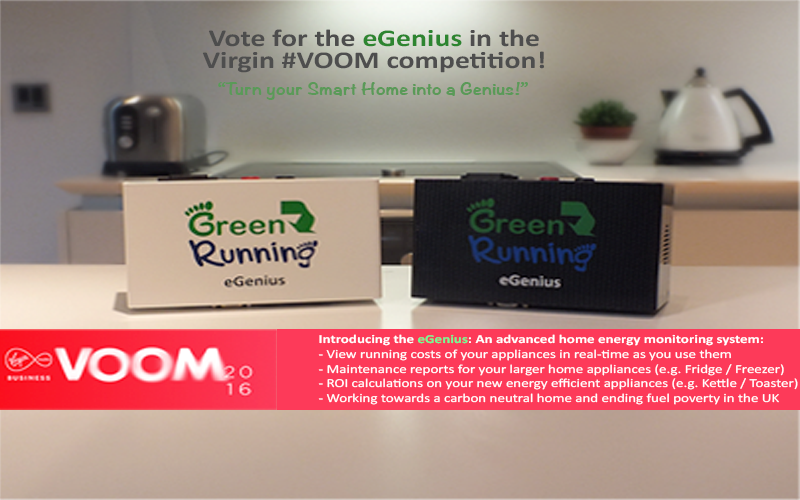 Green Running enter the Virgin VOOM Competition